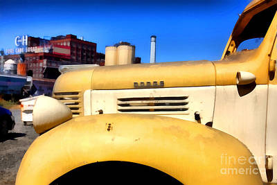 Photograph - Vintage America . Old Dodge Truck At The Old C And H Sugar Plant . 5d16786 by Wingsdomain Art and Photography