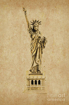 Statue Of Liberty Photograph - Vintage America by Jorgo Photography - Wall Art Gallery