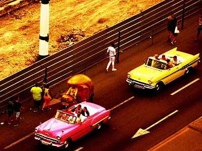 Photograph - Vintage American Cars In Havana  by Funkpix Photo Hunter