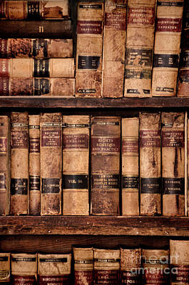 Photograph - Vintage American Law Books by Jill Battaglia