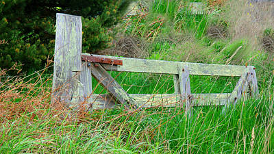 Photograph - Vintage Americana - Fencing - Wooden Gate by Marie Jamieson