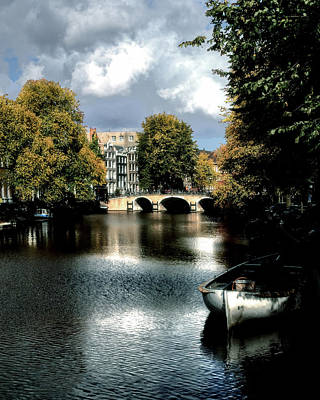 Print featuring the photograph Vintage Amsterdam by Jim Hill