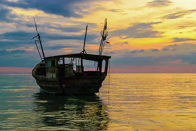 Jamaican Sunsets Photograph - Vintage And The Sunset by Debbie Ann Powell