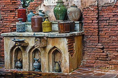 Vintage Antique Water Containers Art Print
