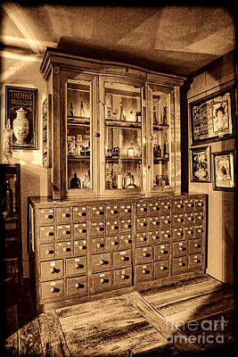 Photograph - Vintage Apothecary Case by American West Legend By Olivier Le Queinec