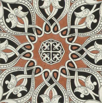 Vintage Arabian Textile Pattern Design Art Print