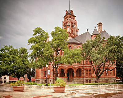 Vintage Architectural Photograph Of The Ellis County Courthouse In Waxahachie - North Texas Art Print