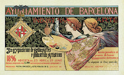 Olympic Sports -  Vintage Art Nouveau expo Barcelona 1896 by Aapshop