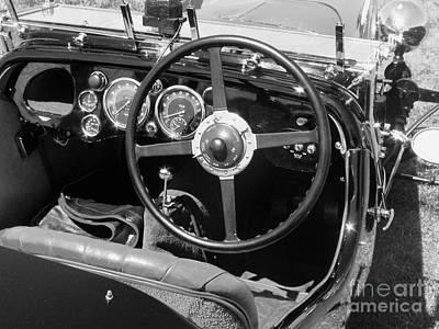 Photograph - Vintage Aston Martin Dashboard by Neil Zimmerman
