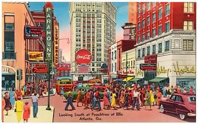 Vintage Atlanta Postcard Art Print by Mountain Dreams