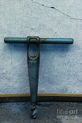 Photograph - Vintage Auger In Blue by Nina Silver