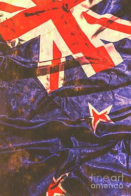 New Zealand Photograph - Vintage Kiwi Flag by Jorgo Photography - Wall Art Gallery