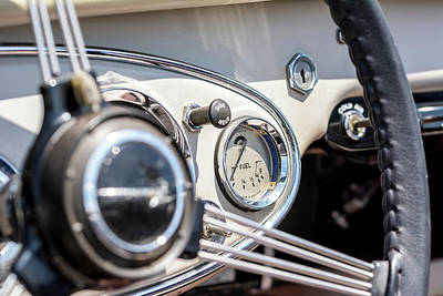 Photograph - Vintage Austin Healey Dashboard by Irwin Seidman
