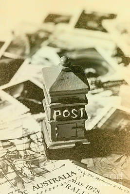Mail Box Photograph - Vintage Australian Postage Art by Jorgo Photography - Wall Art Gallery