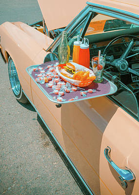 Photograph - Vintage Auto And Window Tray by SR Green