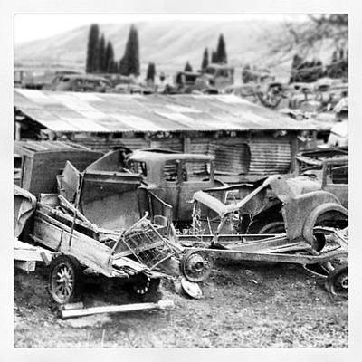 Photograph - Vintage Auto Junk Yard by Tom Tate