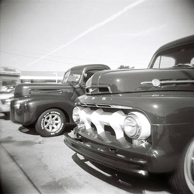 Photograph - Vintage Auto Lot by Jeff Folger