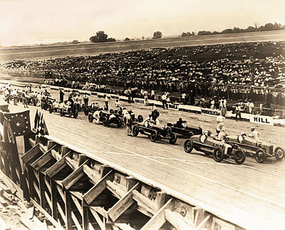 Photograph - Vintage Auto Race 1922 - Washington Dc by Bill Cannon