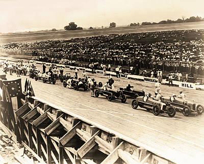 Car Photograph - Vintage Auto Race 1922 - Washington Dc by Bill Cannon