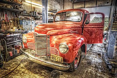 Photograph - Vintage Auto Service Garage by Debra and Dave Vanderlaan