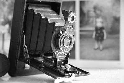 Photograph - Vintage ...autographic Brownie In Monochrome  by Lynn England