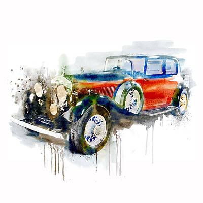 Mixed Media - Vintage Automobile by Marian Voicu