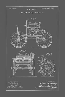 Digital Art - Vintage Automobile Patent by Vintage Pix