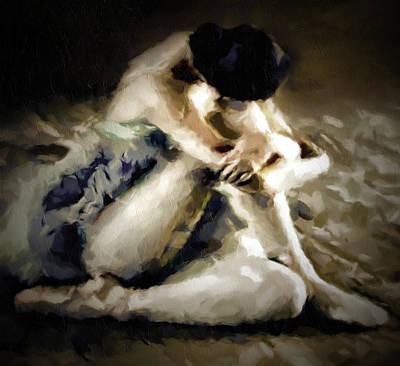 Mixed Media - Vintage Ballerina Abstract Realism Grunge by Georgiana Romanovna
