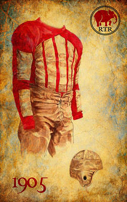 Vintage Bama Uniform 1905  Art Print