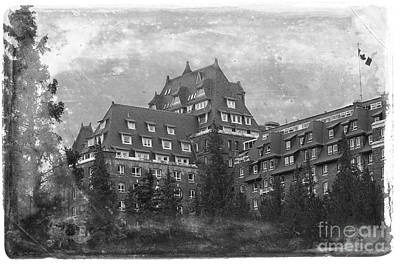 Photograph - Vintage Banff Springs Hotel by Nina Silver