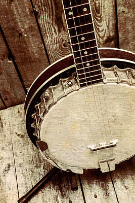 Neck Photograph - Vintage Banjo Barn Dance by Jorgo Photography - Wall Art Gallery