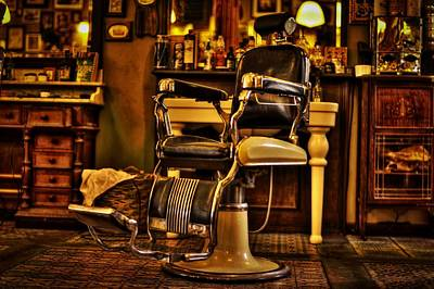 Barber Chair Photograph - Vintage Barber Chair by Skitterphoto