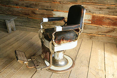 Photograph - Vintage Barber Chair  by Steve McKinzie