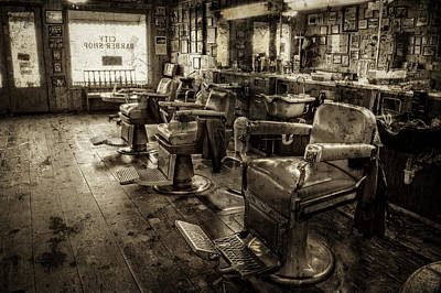 Photograph - Vintage Barber Shop by Greg Mimbs