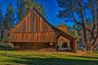 Wooden Farm Wagon Photograph - Vintage Barn by Mountain Dreams
