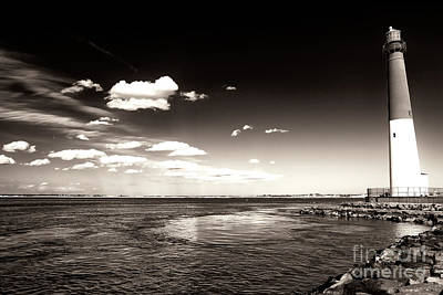 Photograph - Vintage Barnegat Lighthouse by John Rizzuto