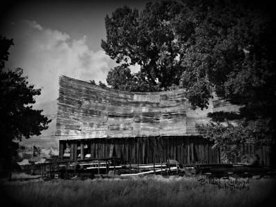 Photograph - Vintage Barnside  by Bobbee Rickard