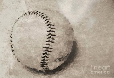 Photograph - Vintage Baseball by Andrea Anderegg