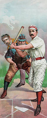 Playing Drawing - Vintage Baseball Card by American School