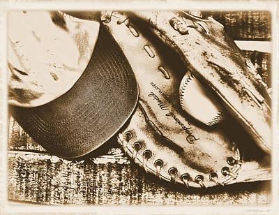 Vintage Baseball Print by Jimmy Ostgard