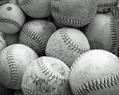 Vintage Baseballs Art Print by Brooke T Ryan