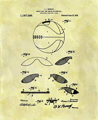 Vintage Basketball Patent Art Print