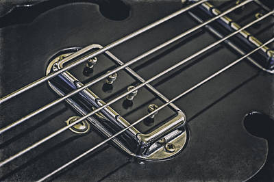 Rock And Roll Royalty-Free and Rights-Managed Images - Vintage Bass by Scott Norris