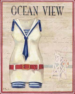 Vintage Bathing Suits IIi Art Print by Paul Brent