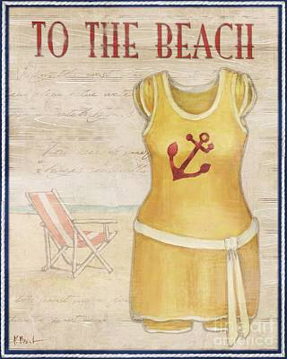 Bathing Painting - Vintage Bathing Suits Iv by Paul Brent