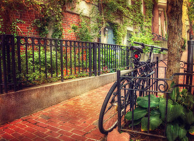 Photograph - Vintage Beacon Hill Art - Boston by Joann Vitali