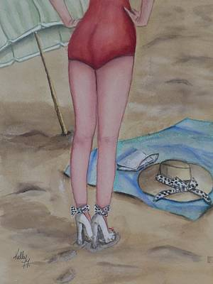 Painting - Vintage Beauty At The Beach by Kelly Mills