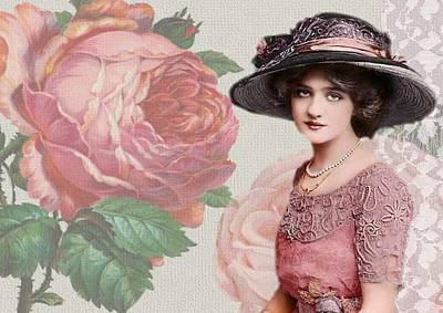 Painting - Vintage Beauty by Joy of Life Arts Gallery