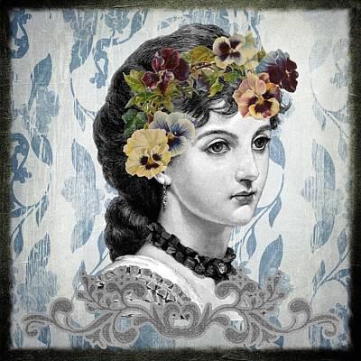 Decoupage Mixed Media - Vintage Beauty by Zin Shades