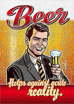 Digital Art - Vintage Beer Advert by Marlene Watson